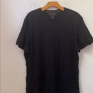 Banana republic solid black short sleeve shirt